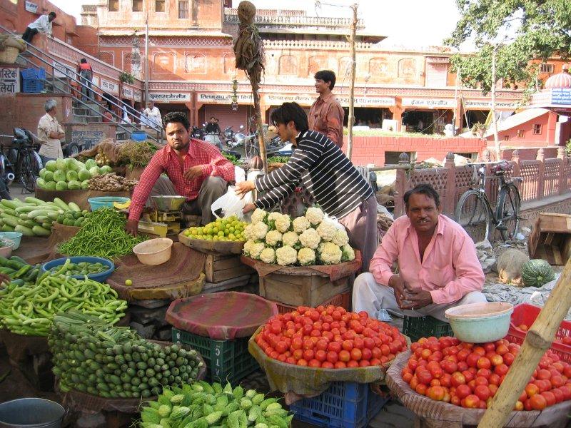 Gemüse-Markt in Jaipur