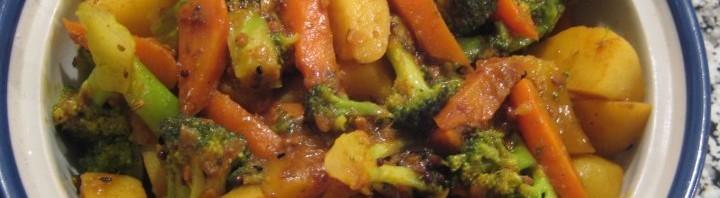Brokkoli Aloo mit Karotten