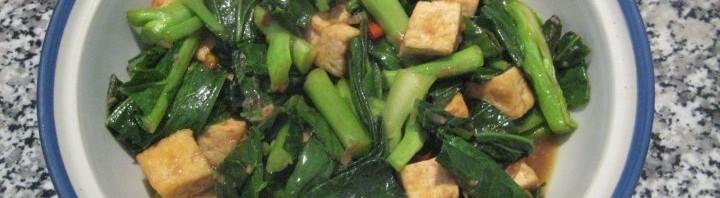 Tofu mit Thai Brokkoli Blätter