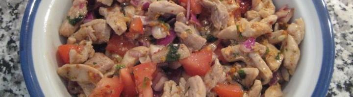 Scharfer Schweinefleisch Salat