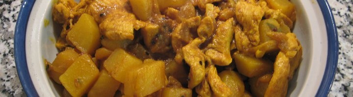 Pouletfleisch Aloo Curry