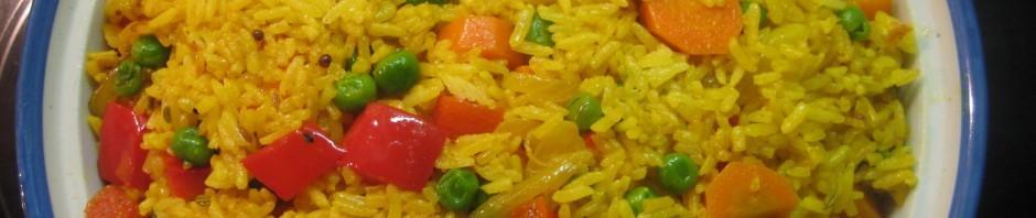 Kurkuma Reis mit Gemüse