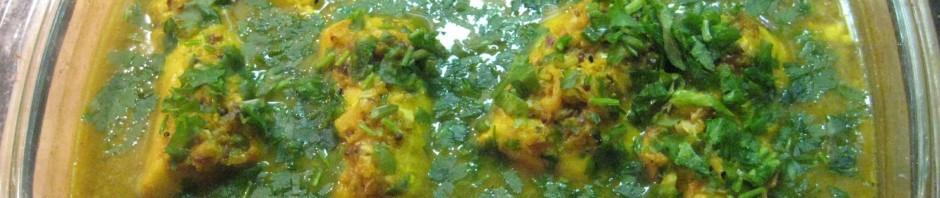 Fisch Curry im Backofen
