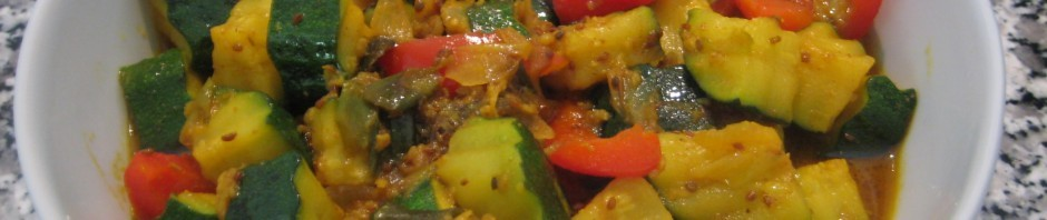 Zucchini-Peperoni Curry
